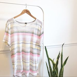 Free people | we the free striped top blouse L